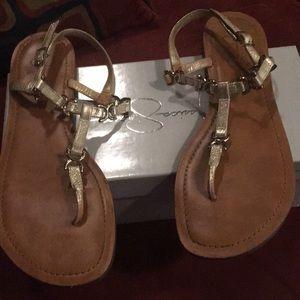 Jessica Simpson metallic sandals